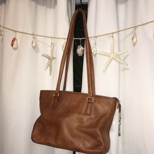 Fossil Leather Shoulder Bag Good. Condition